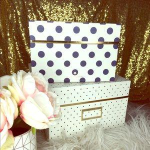Kate Spade Navy Polka Dot Nesting Boxes